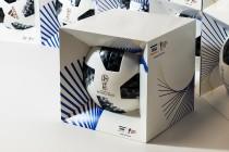 Подарочная брендированная коробка к мероприятиям Чемпионата мира 2018 по футболу. Картон, УФ-печать, контурная резка