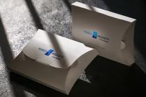 Подарочная брендированная коробка. Печать фольгой, контурная резка, мелованный картон
