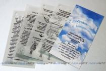 Комплект этикеток с подробным описанием товара (печать на дизайнерской бумаге и кальке)