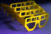 Сувенирные очки с логотипом из дизайнерского картона. Плоттерная ререзка и биговка по контуру