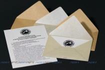 Конверты 110х80 мм из дизайнерской бумаги и крафта. Цифровая печать, плоттерная резка и биговка