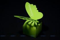 Бомбоньерка (подарочная коробка) из текстурного (дизайнерского) картона. Контурная резка и биговка
