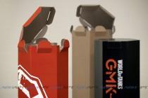 Пробные образцы сувенирной упаквки (гофрокартон, цифровая печать, кашировка, плоттерная резка)