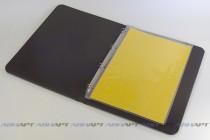Папка-меню из кожзаменителя с креплением файлов повышенной плотноти на кольцах