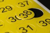 Табличка-номерок 50х50мм из ПВХ, цифровая печать, плоттерная резка