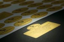 Комплект стикеров для папки из текстурной (дизайнерской) бумаги