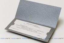 Подарочныйсертификат из текстурной (дизайнерской) бумаги с вкладышем, биговка, высечка