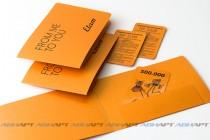 Подарочный сертификат с печатью пременных данных в комплекте с конвертом