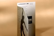 Гостевая карта-приглашение из текстурной (дизайнерской бумаги), цифровая печать, плоттерная контурная резка и биговка