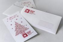 Поздравительная открытка и конверт по индивидуальному заказу из дизайнерской бумаги