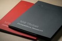 Папка А4 из текстурного (дизайнерского картона), контурная резка, рисование, тиснение, биговка