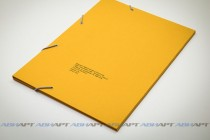 Папка А4 с резинкой. Полноцветная печать, текстурная (дизайнерская) бумага, 3 клапана, люверсы