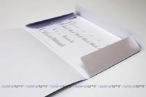 Папка А4 с резинкой. Полноцветная печать, текстурная (дизайнерская) бумага, 3 клапана, 2 люверса