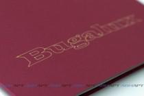 Папка А4 из текстурного (дизайнерского) картона с логотипом. Плоттерная резка, биговка и рисование.
