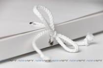 Папка А4 из плотного картона с завязками, 3-мя клапанами