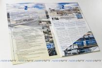 Папки-буклеты А4 с полноцветной двухсторонней печатью, ламинированием и вклеенным уголком