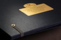 Папка с 3-мя клапанами, резинкой и стикерами из текстурного (дизайнерского) картона