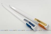 Нанесение логотипов на ручки с помощью объемной наклейки