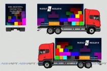 Реклама на бортах грузового транспорта