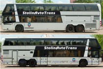 Реклама на бортах автобуса