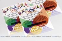 Корпоративный лотерейный билет 150х100 мм с печатью переменных данных, защитным скретч-слоем и перфорацией